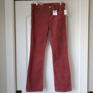 GAP Perfect Boot Corduroy Pants 27 SHORT New